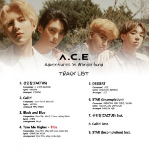 A.C.E Adventures in Wonderland track list