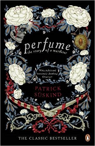 Perfume cover with flowers