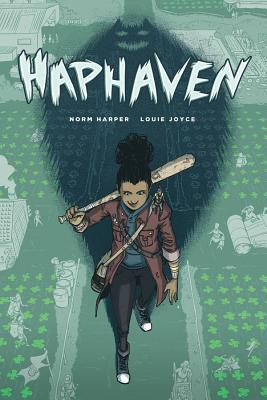 Haphaven book cover (girl holding a baseball bat)
