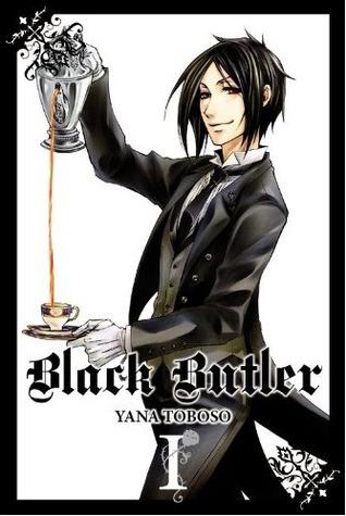 Black Butler volume 1 by Yana Toboso book cover (butler pouring a cup of tea)